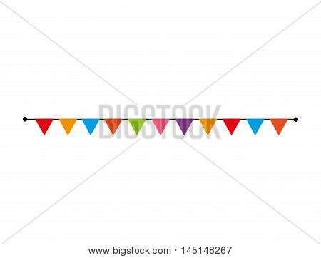confetti carnival decorate design isolated vector illustration eps 10