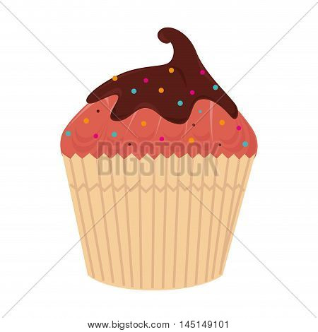 cup cake dessert sweet isolated vector illustration eps 10