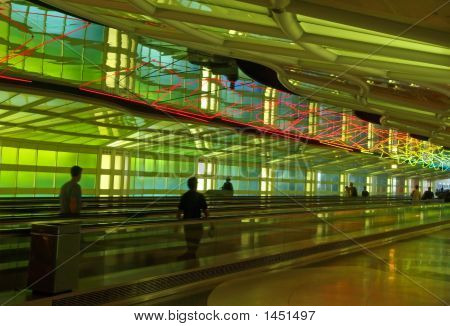 A Corridor Of A Major Internation Airport