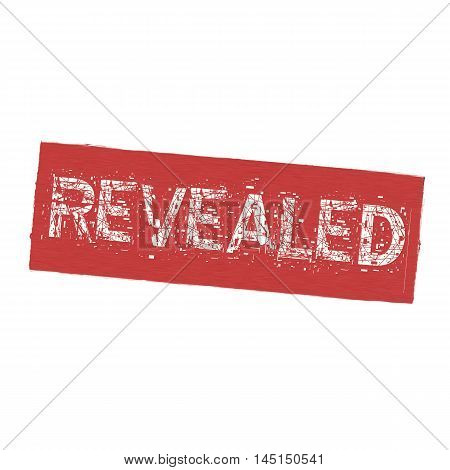 REVEALED white wording on Background red wood Board old