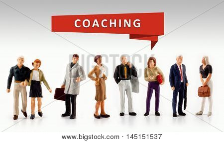 group of people - Leadership Management coaching Concept