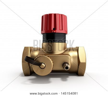 The Water Supply Crane Valve Manual 3D Render On White