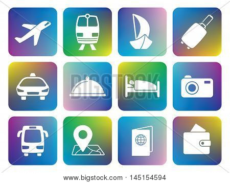 Traveling and transport icons for your projects