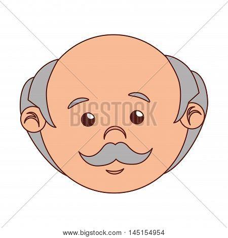 man cartoon old bald isolated vector illustration eps 10