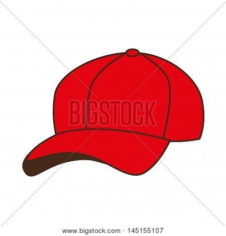 cap red baseball isolated vector illustration eps 10