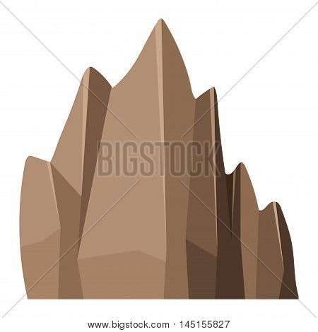 Mountain rock in cartoon style big mineral pile. Boulder natural rock and stone. Vector illustration rock and stone nature boulder
