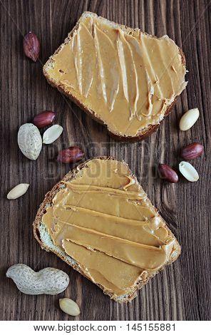 Peanut Butter On A Slice Of Toast