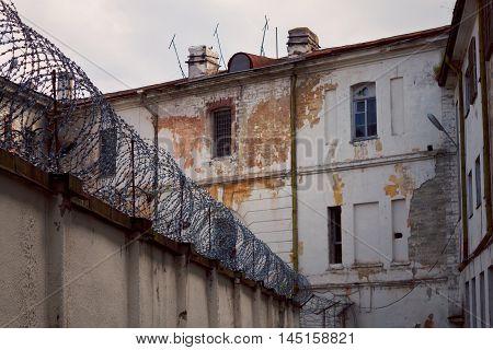 TALLINN, ESTONIA - JUNE 30, 2013: Old Soviet prison Patarei Russian fortress Defence Barracks and museum in Tallinn Estonia