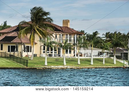 Summer beach house on Cape Coral, Florida