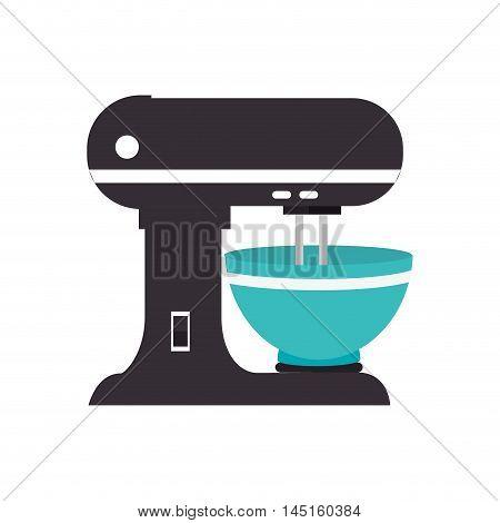 mixer appliance kitchen isolated vector illustration eps 10