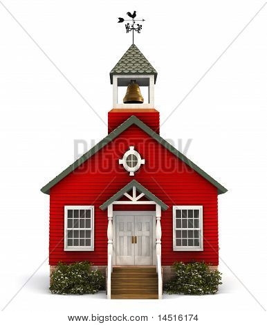 Red Schoolhouse Facade