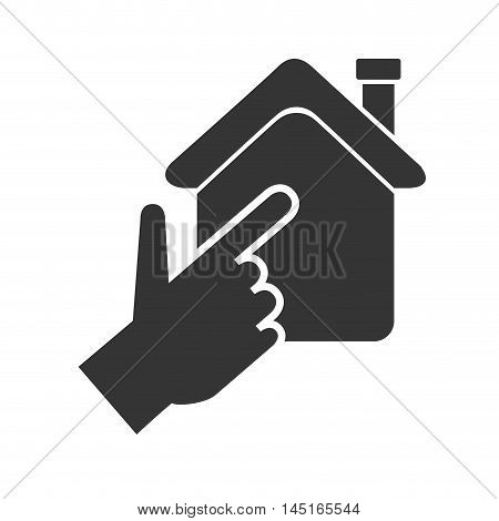 house hand real state isolated vector illustration eps 10