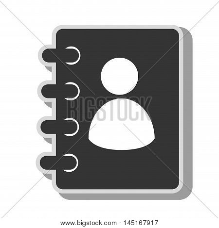 icon directory notebook school write isolated vector illustration eps 10