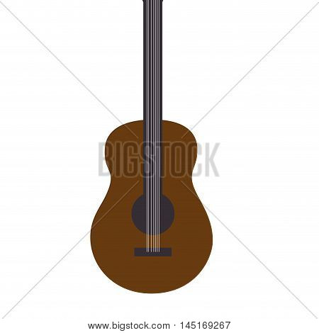 guitar music retro song isolated vector illustration eps 10