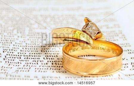 Bible & Wedding Rings