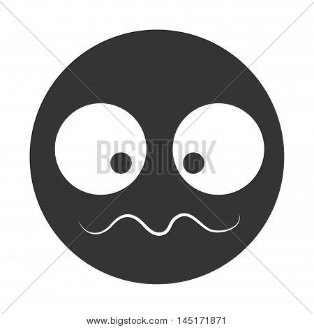 emoticons silhouette cartoon confused isolated vector illustration eps 10