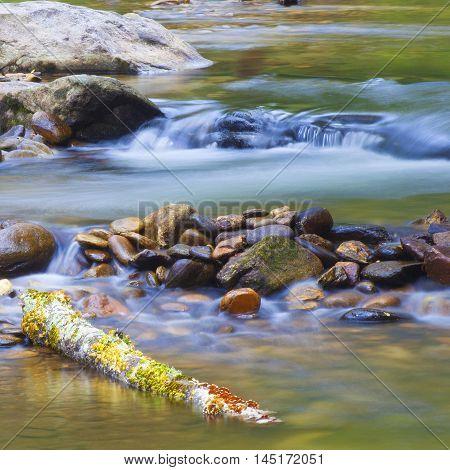 Long exposure of water on Wilson Creek in North Carolina