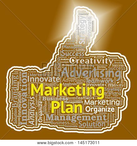 Marketing Plan Shows Emarketing Programme And Promotion