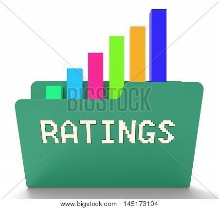 Ratings File Indicates Chart Classification 3D Rendering