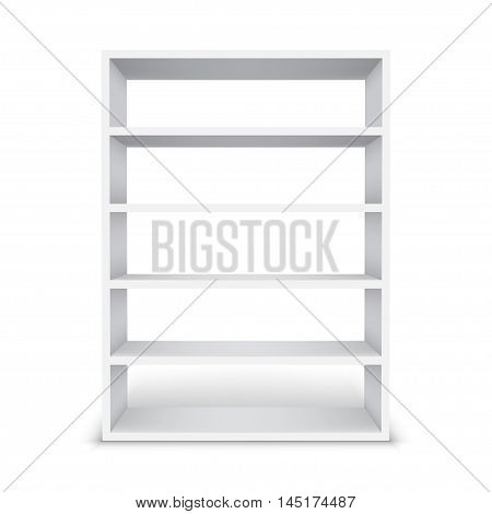 blank white Shelf cabinet isolated on a white background