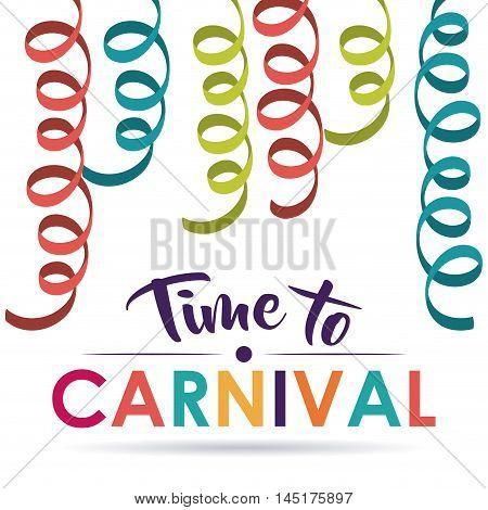 streamer carnival festival circus fair celebration  icon. Colorful design. Vector illustration