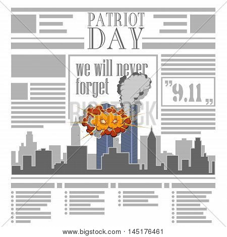USA memorial day 9th of september. Patriot day 9 11. Newspaper
