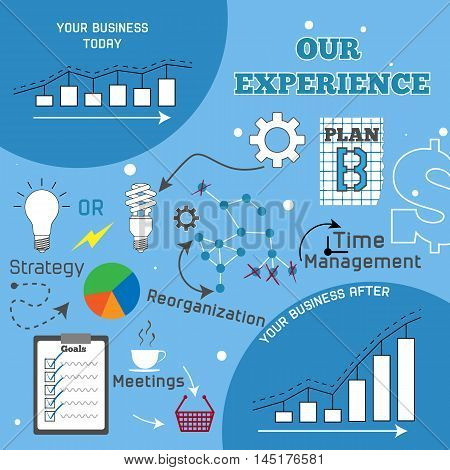 Business improvement infographic vector illustration EPS 8.