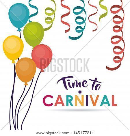 streamer balloons carnival festival circus fair celebration  icon. Colorful design. Vector illustration