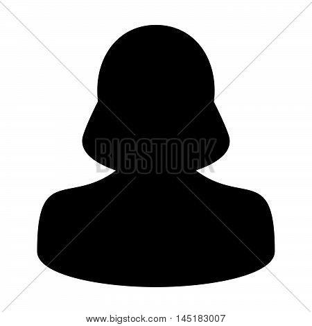 User Icon - Woman, Profile, Businesswoman, Avatar, Person Glyph Vector illustration