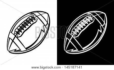 An American football ball icon emblem illustration. Vector EPS 10 available.