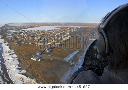 Landing Into Arctic Village