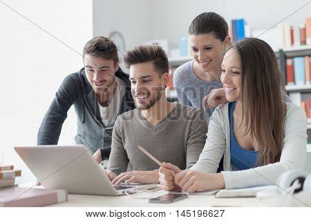 Schoolmates Studying Together