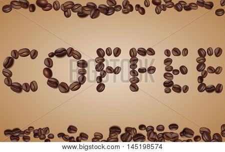 coffee beans. I love coffee. vector illustration