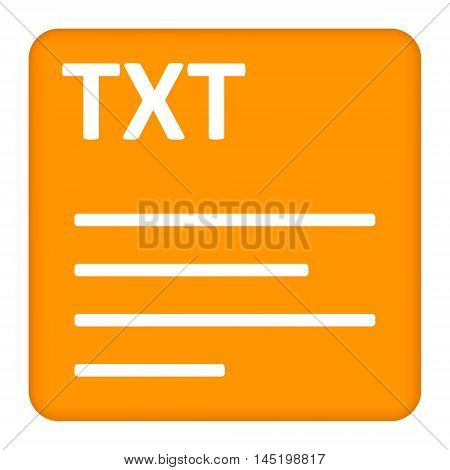 TXT text file extension.Collection concept vector pictogram for infographic project and logo.