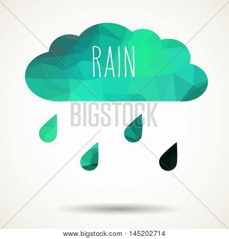 Triangular Cloud With Rain