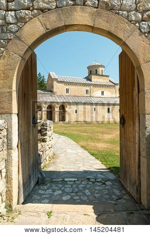 XIII century Sopocani Serbian Orthodox Monastery in Serbia
