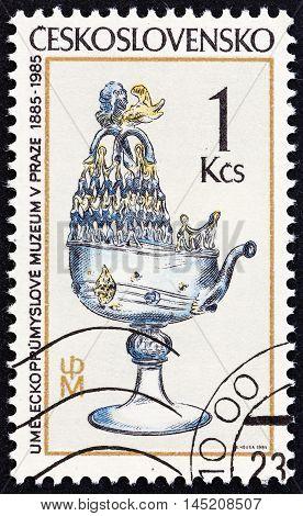 CZECHOSLOVAKIA - CIRCA 1985: A stamp printed in Czechoslovakia from the