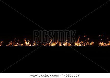 Fire Line On Black
