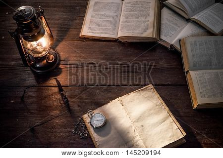 Diary And Lamp