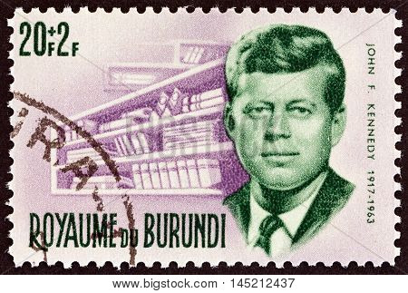 BURUNDI - CIRCA 1966: A stamp printed in Burundi from the
