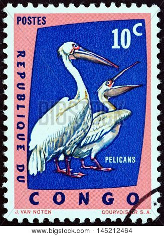DEMOCRATIC REPUBLIC OF CONGO - CIRCA 1963: A stamp printed in Congo from the