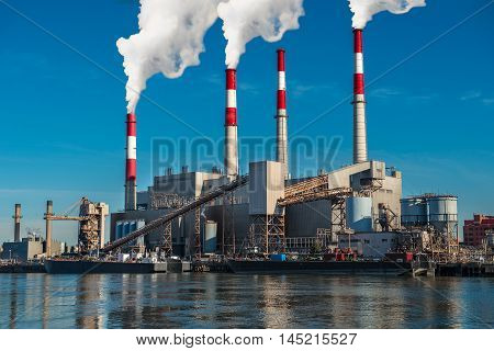 Power generation factory Generating Station air polution