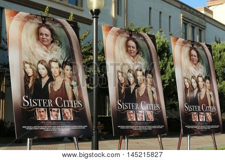 LOS ANGELES - AUG 31:  Sister Cities Poster at the