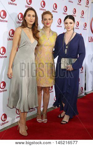 LOS ANGELES - AUG 31:  Troian Bellisario, Jess Weixler, Michelle Trachtenbergs at the