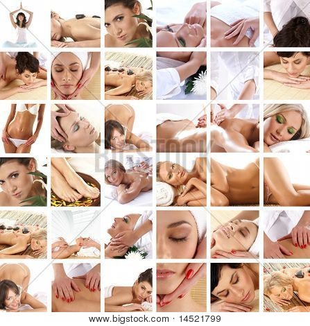 Spa collage made of many pictures