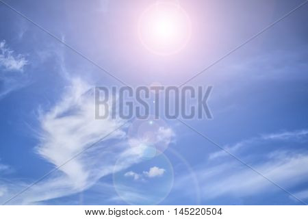 Cloudy blue sky abstract background blue sky background with tiny clouds