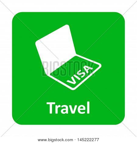 Visa In Passport Vector Icon For Web And Mobile