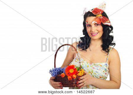 Beautiful Spring Woman Model