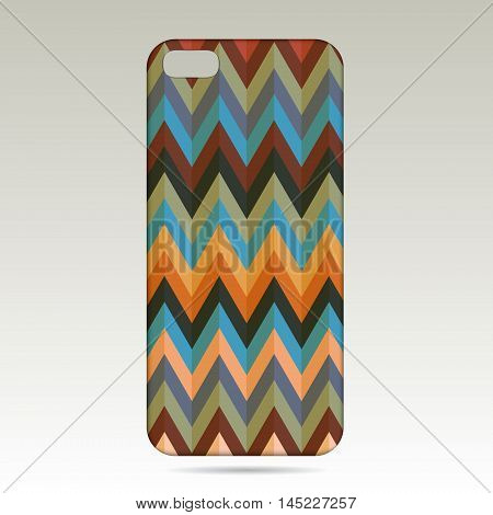 Boho style.Phone case design .Realistic phone case.vector illustration on white background.