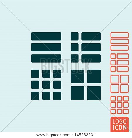 Square icon. Various square and rectangle set. Vector illustration